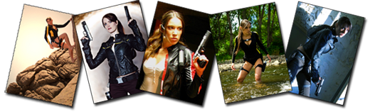 Les cosplayers Tomb Raider